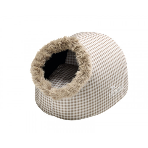 Cat Cave Astana, brown checked